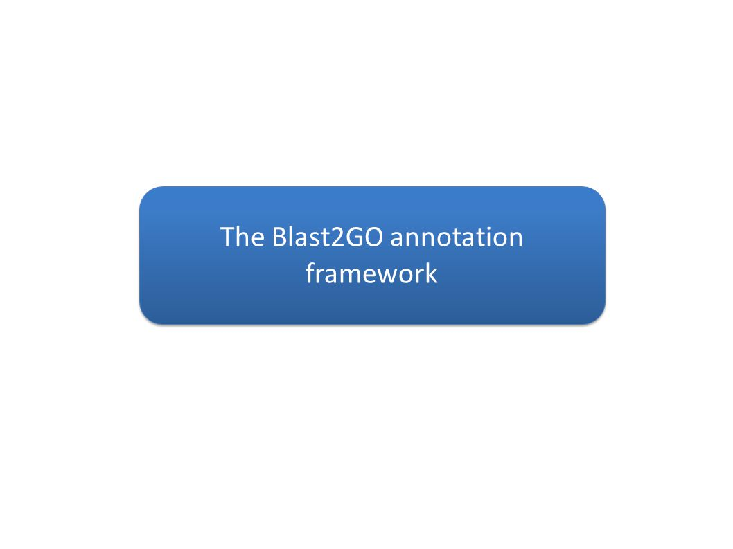 The Blast2GO annotation framework