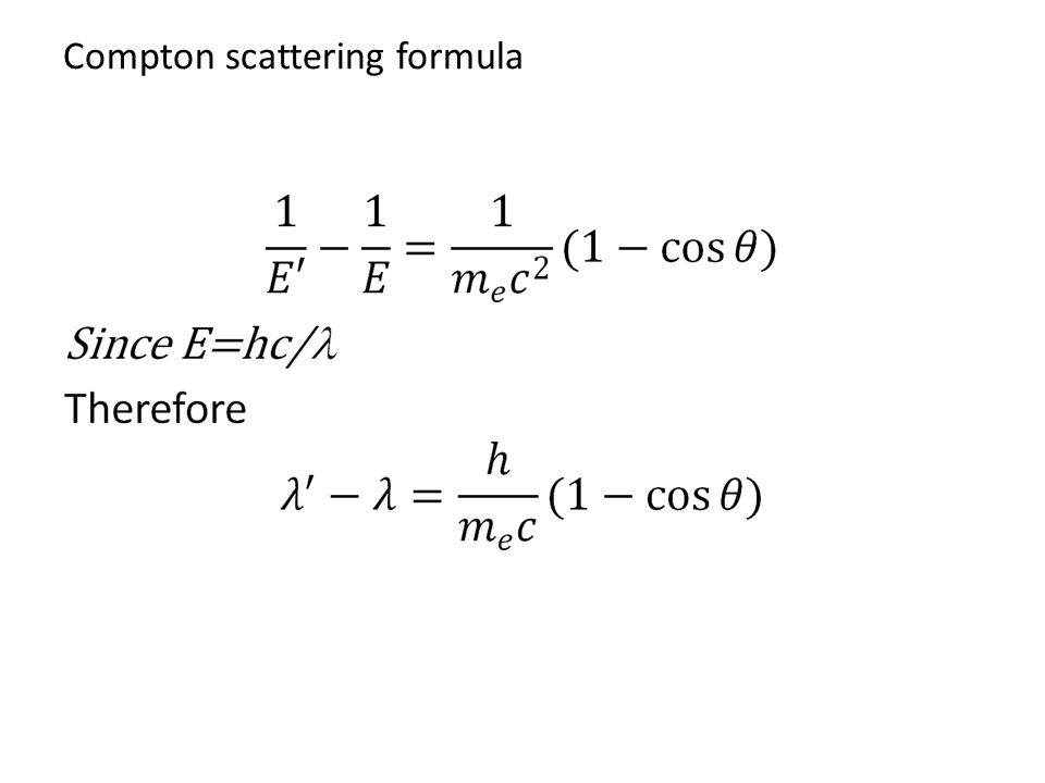 Compton scattering formula