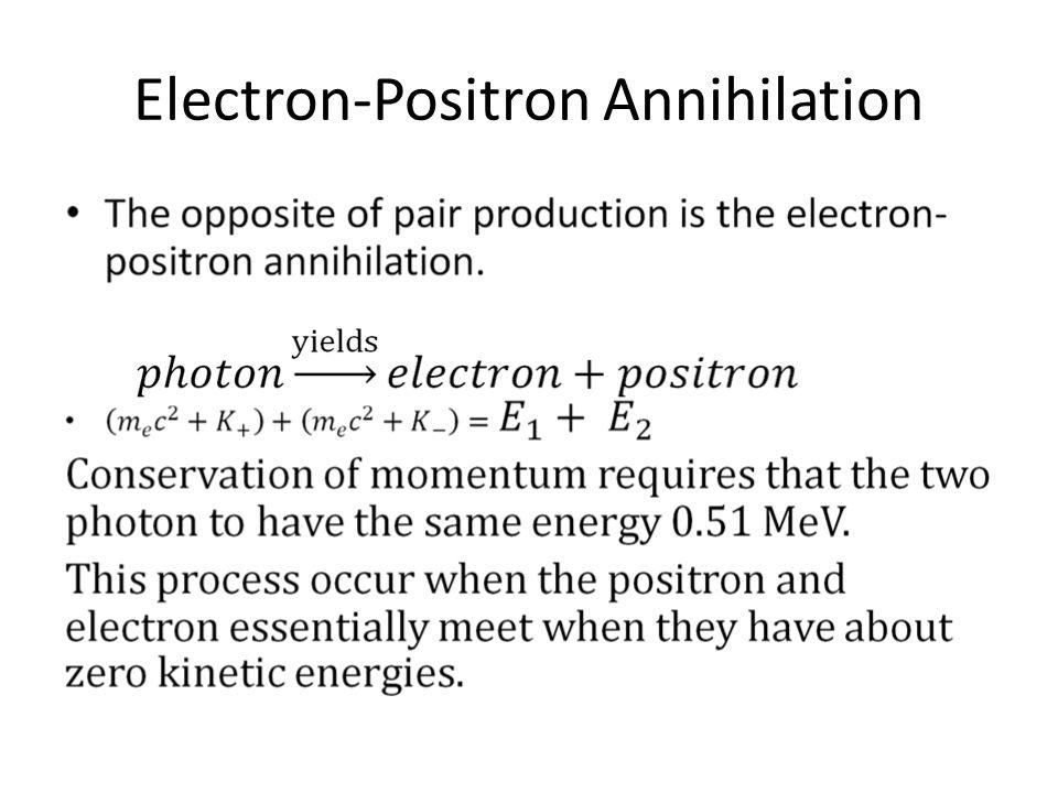 Electron-Positron Annihilation