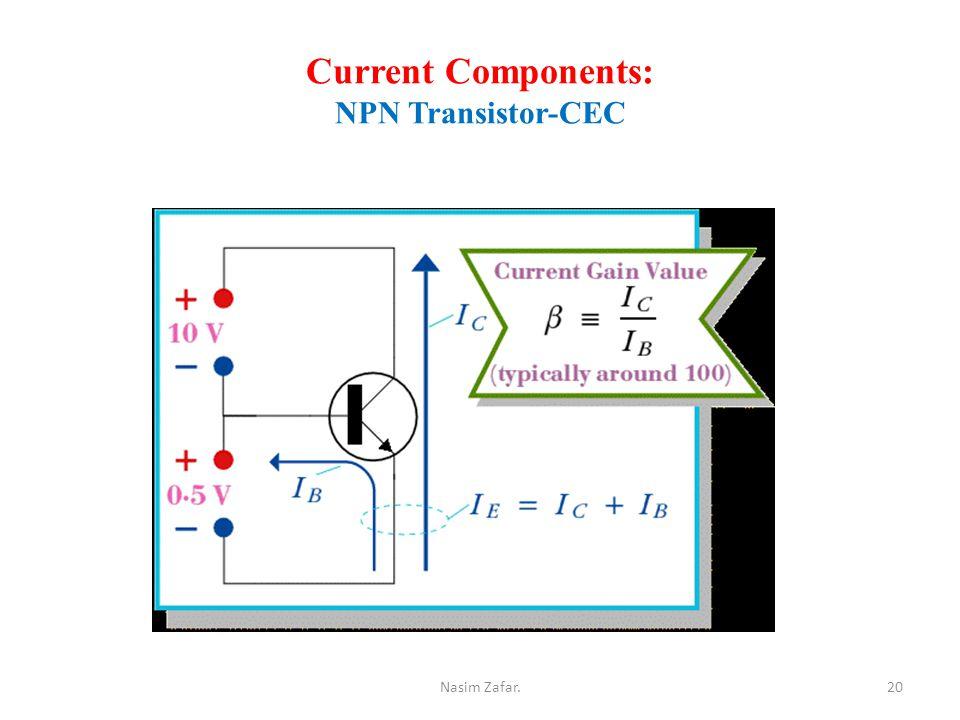 Current Components: NPN Transistor-CEC 20Nasim Zafar.