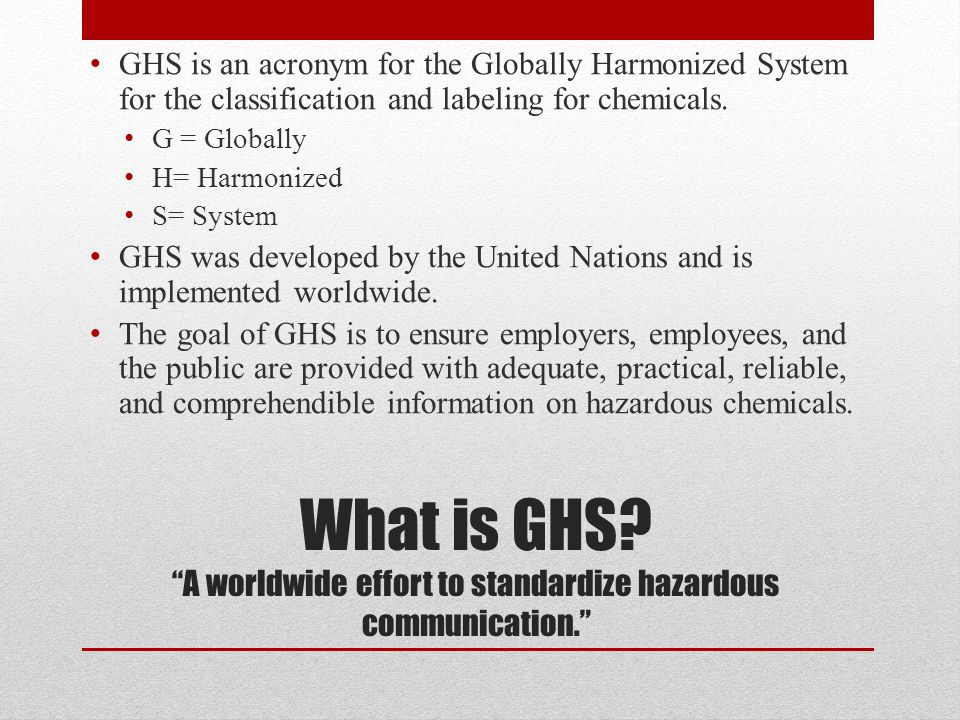 What is GHS.