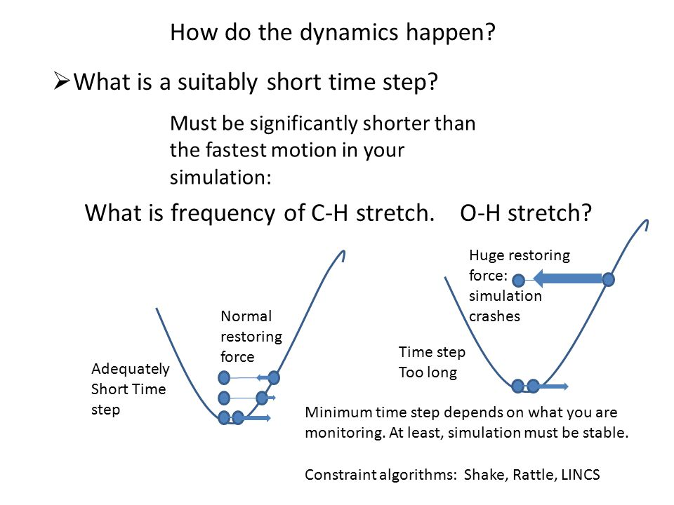 What is a suitably short time step. How do the dynamics happen.