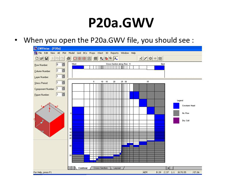 P20a.GWV When you open the P20a.GWV file, you should see :