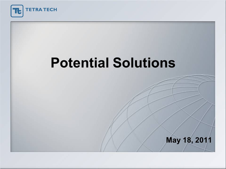 Potential Solutions May 18, 2011