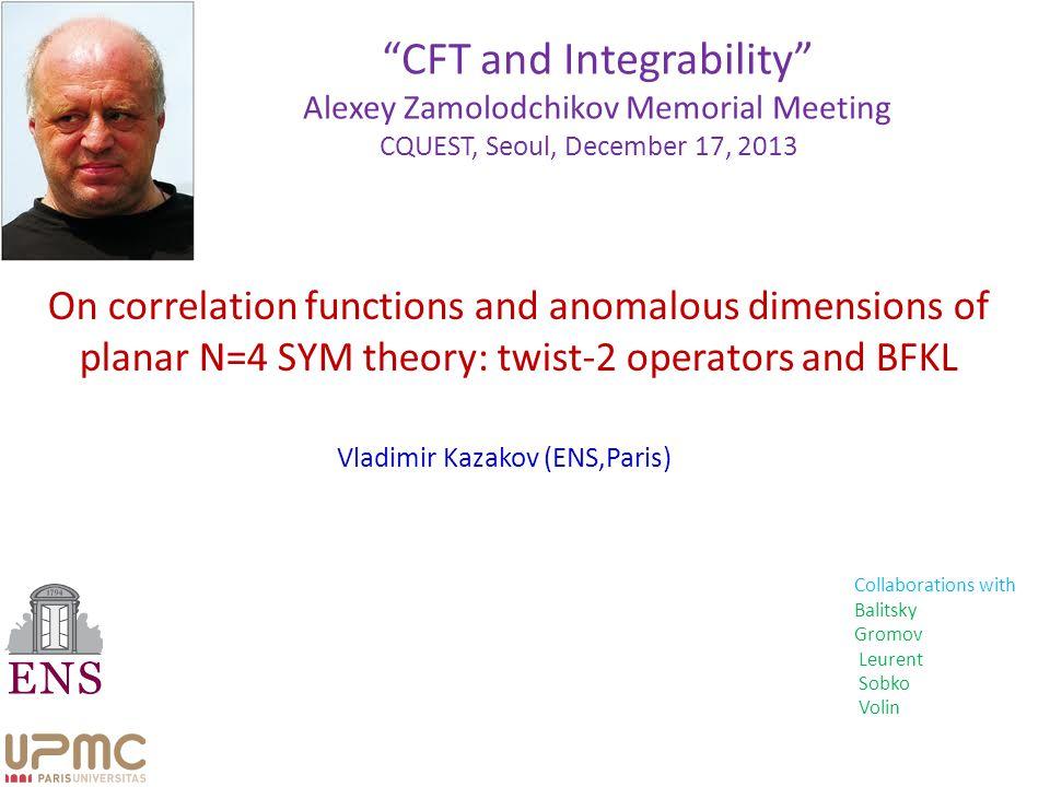 N=4 SYM as a superconformal 4d QFT 4D Correlators (e.g.