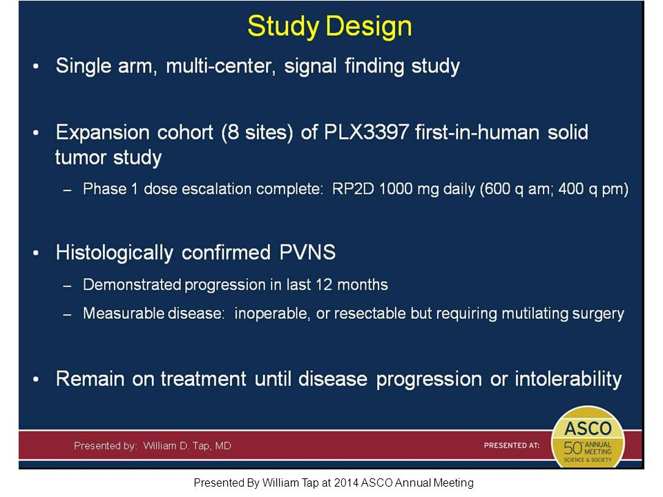 Study Design Presented By William Tap at 2014 ASCO Annual Meeting