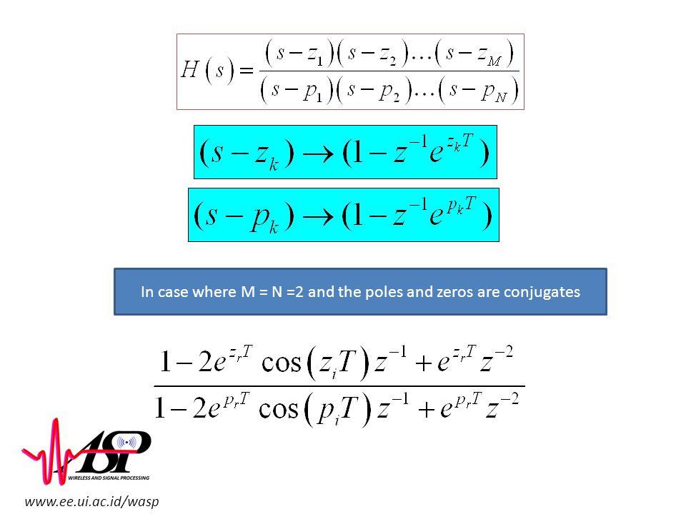 www.ee.ui.ac.id/wasp In case where M = N =2 and the poles and zeros are conjugates