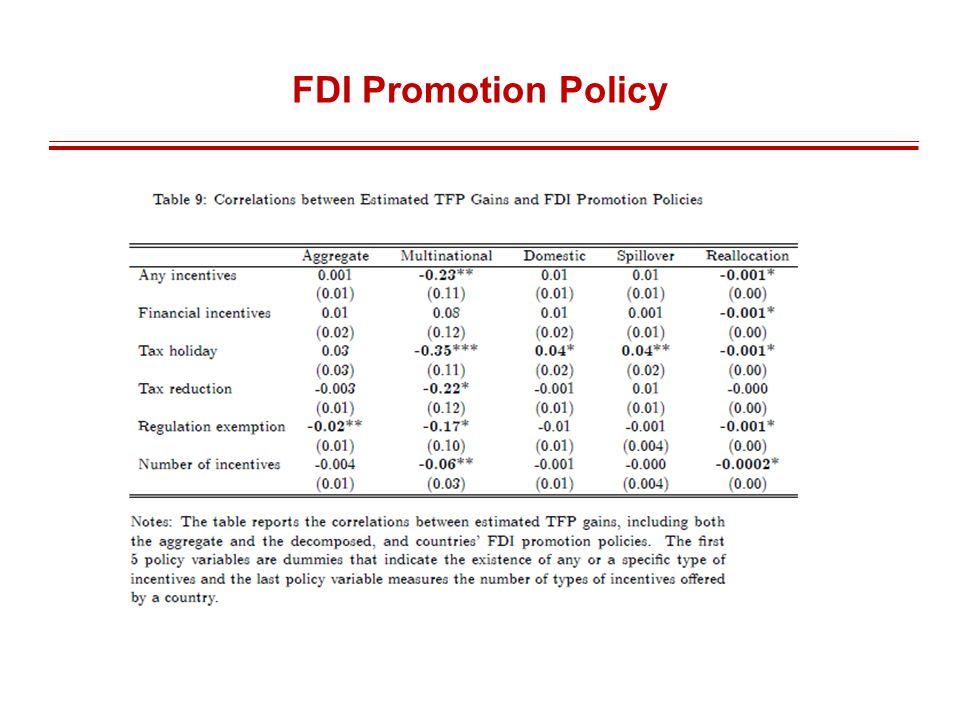 FDI Promotion Policy