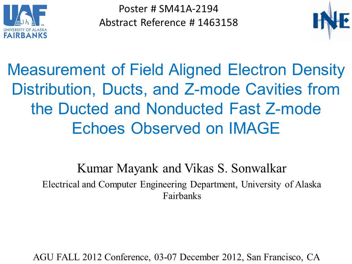 Abstract We present a method to measure geomagnetic field (B 0 ) aligned electron density (Ne) distribution, ducts, and Z-mode (ZM) cavities from the ducted and nonducted fast ZM echoes observed from radio sounding at 50-1000 kHz by RPI/IMAGE.