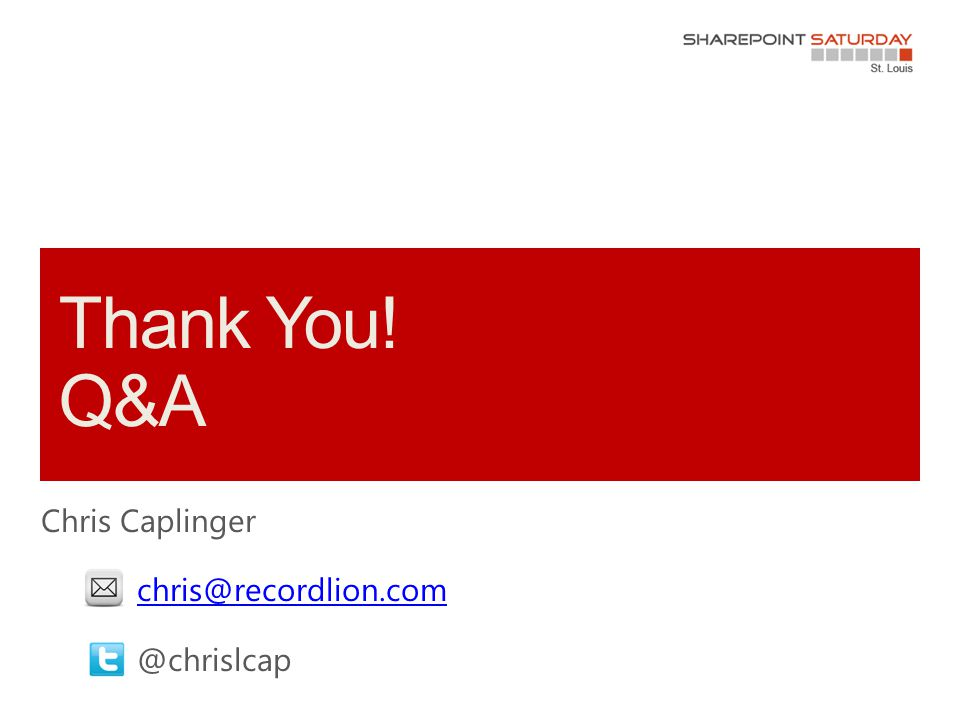 Chris Caplinger chris@recordlion.com @chrislcap