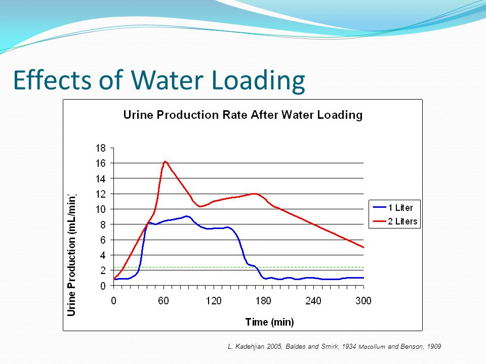 Effects of Water Loading L. Kadehjian 2005, Baldes and Smirk, 1934 Macallum and Benson, 1909