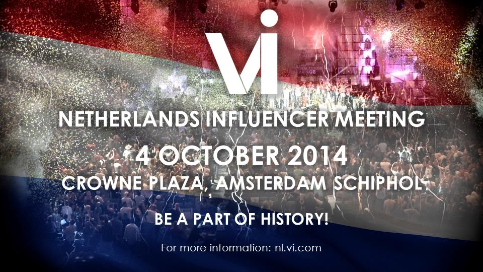 BE A PART OF HISTORY! For more information: nl.vi.com