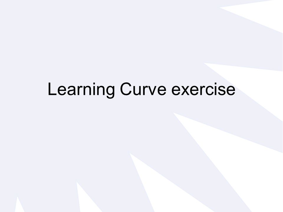 Learning Curve exercise
