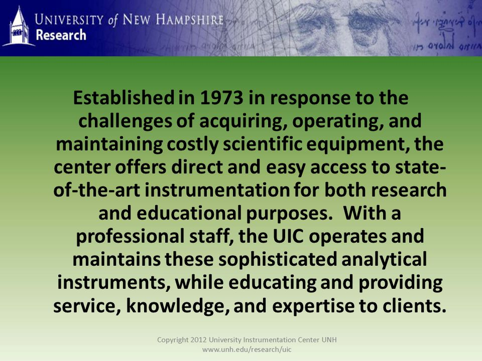 Established in 1973 in response to the challenges of acquiring, operating, and maintaining costly scientific equipment, the center offers direct and e