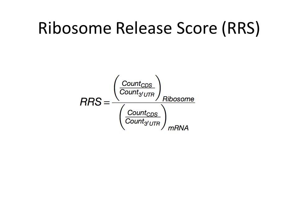 Ribosome Release Score (RRS)