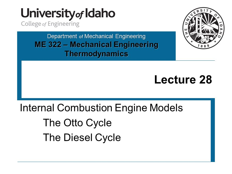 Diesel Cycle Performance Thermal Efficiency Compression Ratio Cutoff Ratio 1 23 4 BDC TDC 1 2 3 4 P = const v = const 12