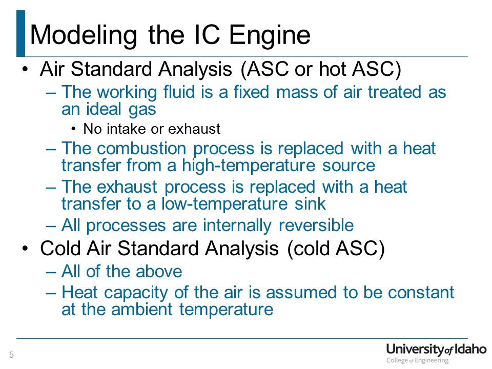 SI Engine - Otto Cycle 6 1-2 Isentropic compression from BDC to TDC 2-3 Isochoric heat input (combustion) 1 2 3 4 BDC TDC 1 2 3 4 BDC TDC 1 2 3 4 v = const