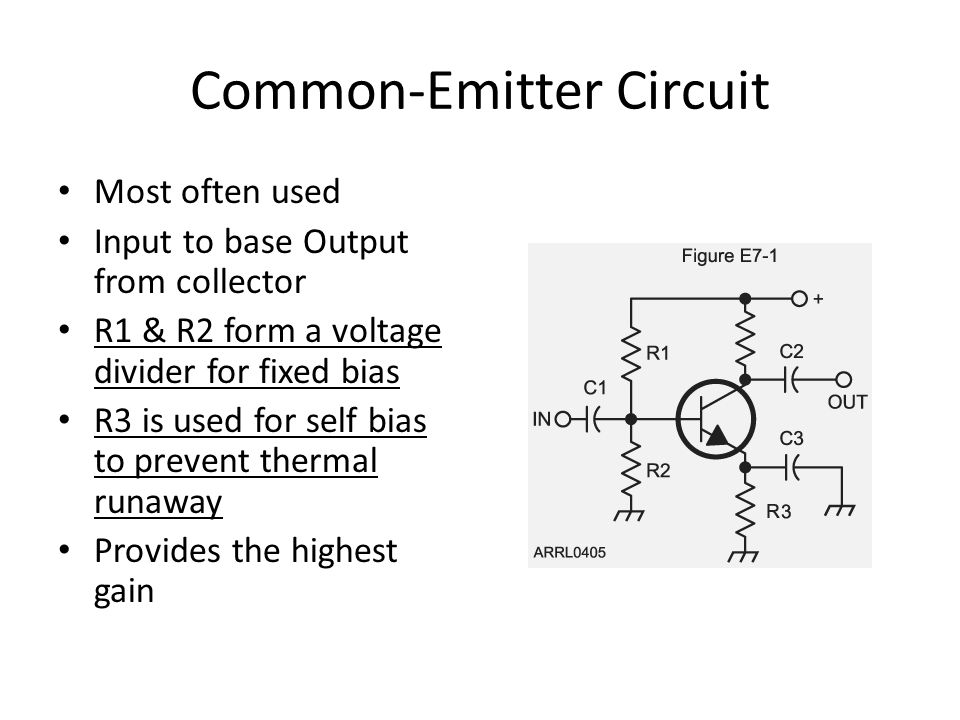 Common Base Circuit Input on Emitter output on collector Low impedance input High impedance output Primarily used as an impedance converter