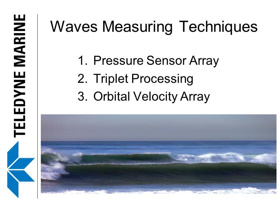 Waves Measuring Techniques 1.Pressure Sensor Array 2.Triplet Processing 3.Orbital Velocity Array
