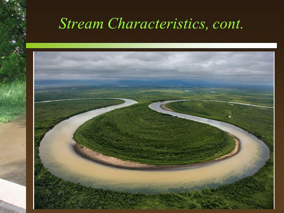 Stream Characteristics, cont.