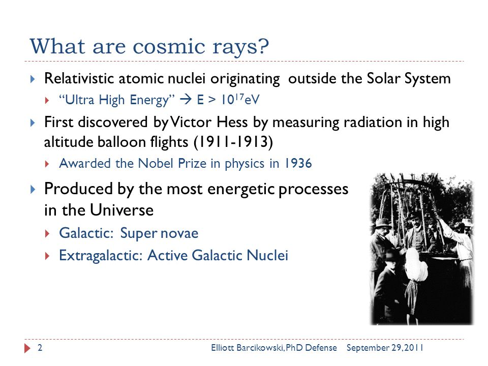 What are cosmic rays.
