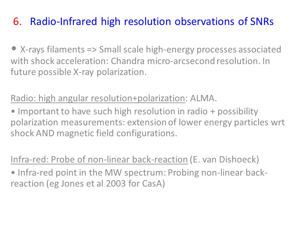 X-rays filaments => Small scale high-energy processes associated with shock acceleration: Chandra micro-arcsecond resolution.