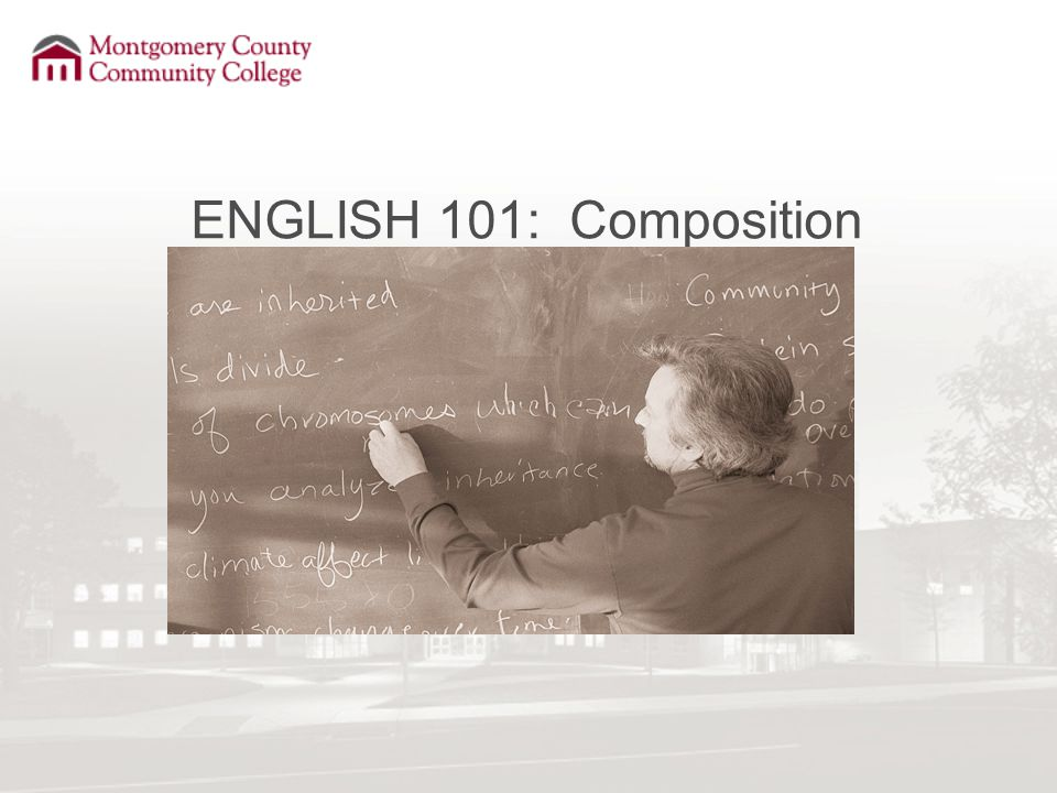 ENGLISH 101: Composition