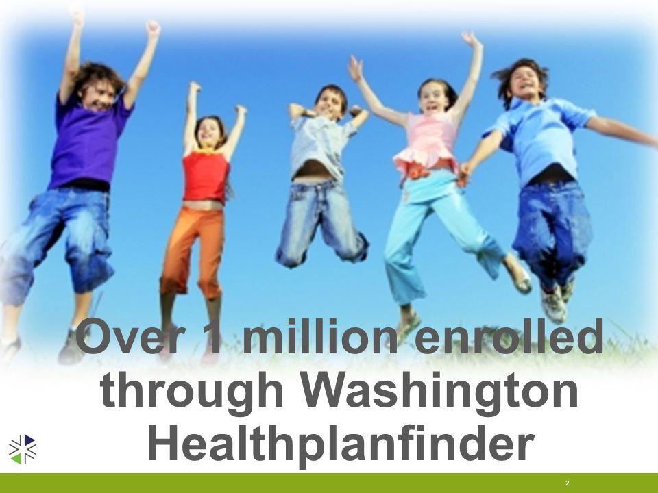 Over 1 million enrolled through Washington Healthplanfinder 2