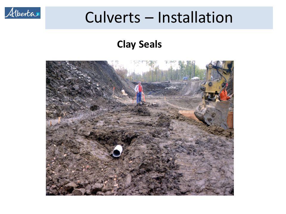Culverts – Installation Clay Seals