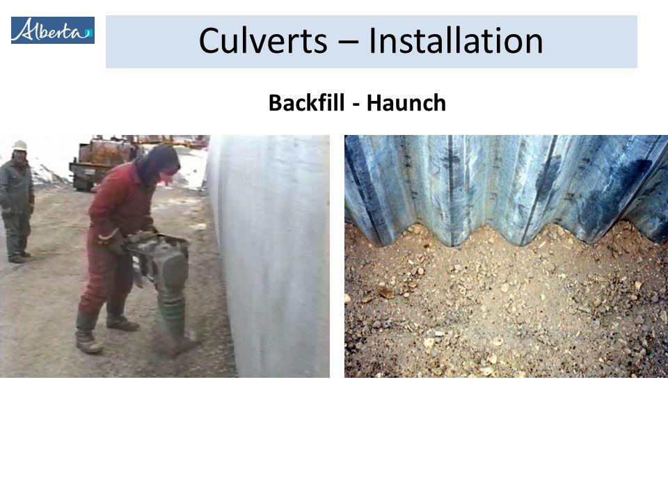 Culverts – Installation Backfill - Haunch