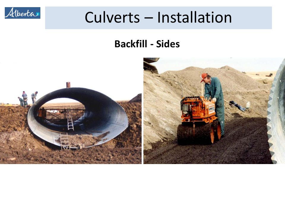 Culverts – Installation Backfill - Sides