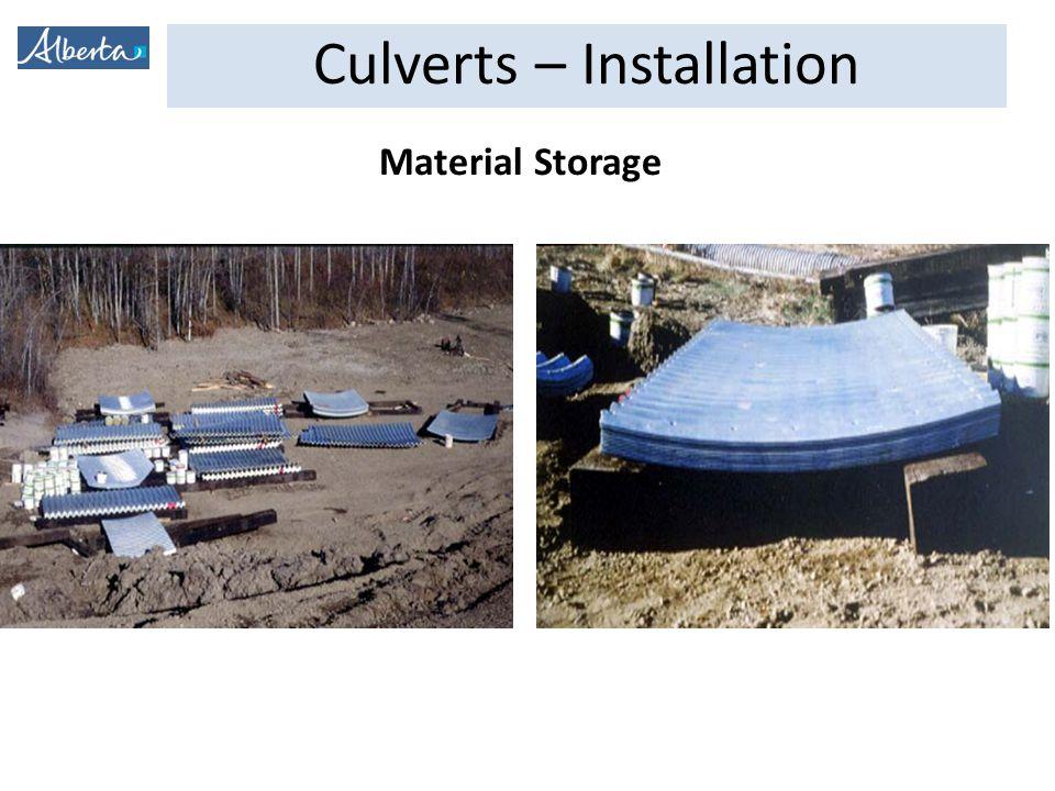 Culverts – Installation Concrete End Treatment