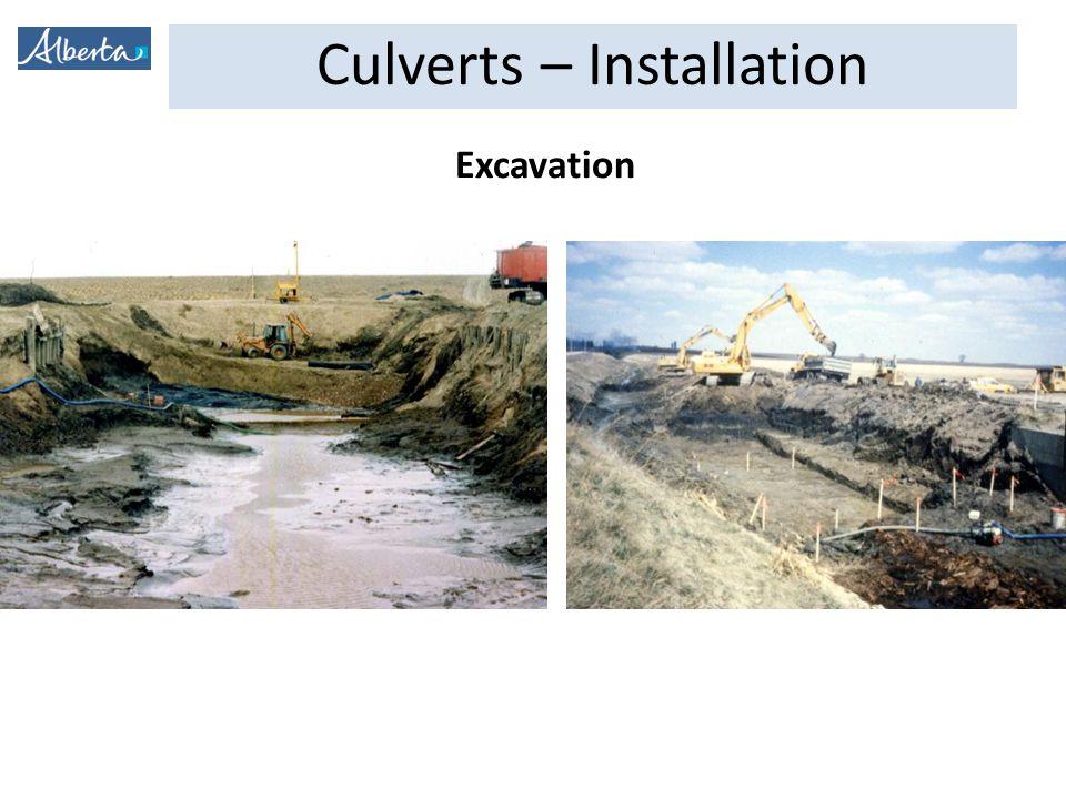Culverts – Installation Excavation