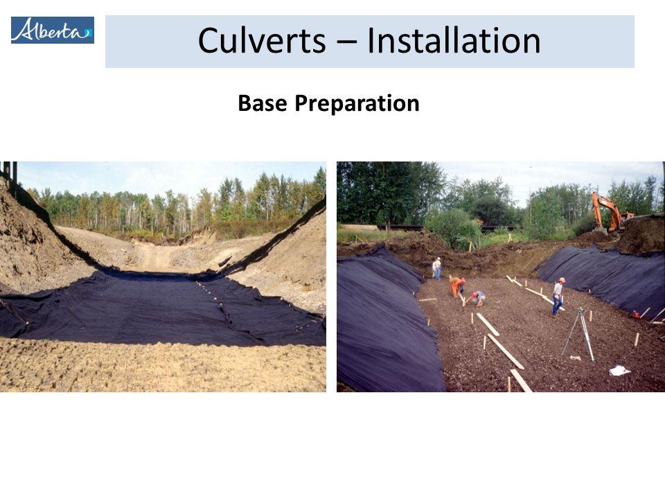 Culverts – Installation Base Preparation