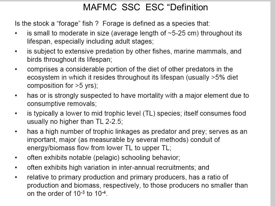 MAFMC SSC ESC Definition