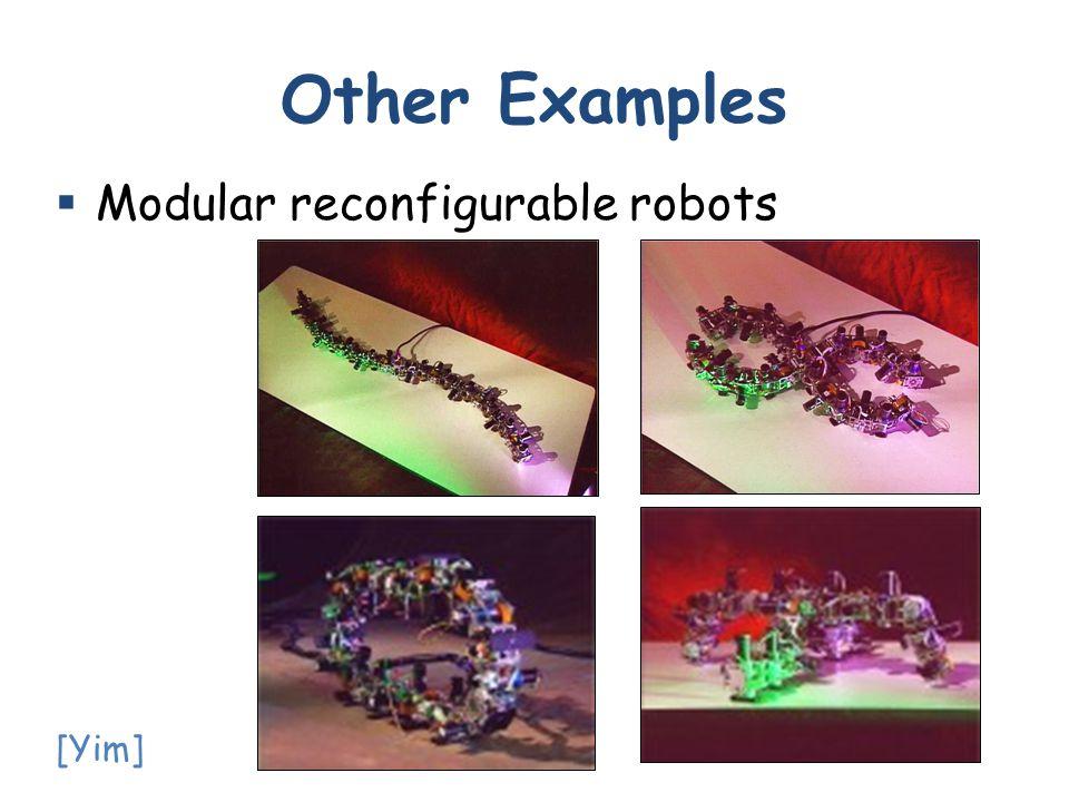  Modular reconfigurable robots Other Examples [Yim]
