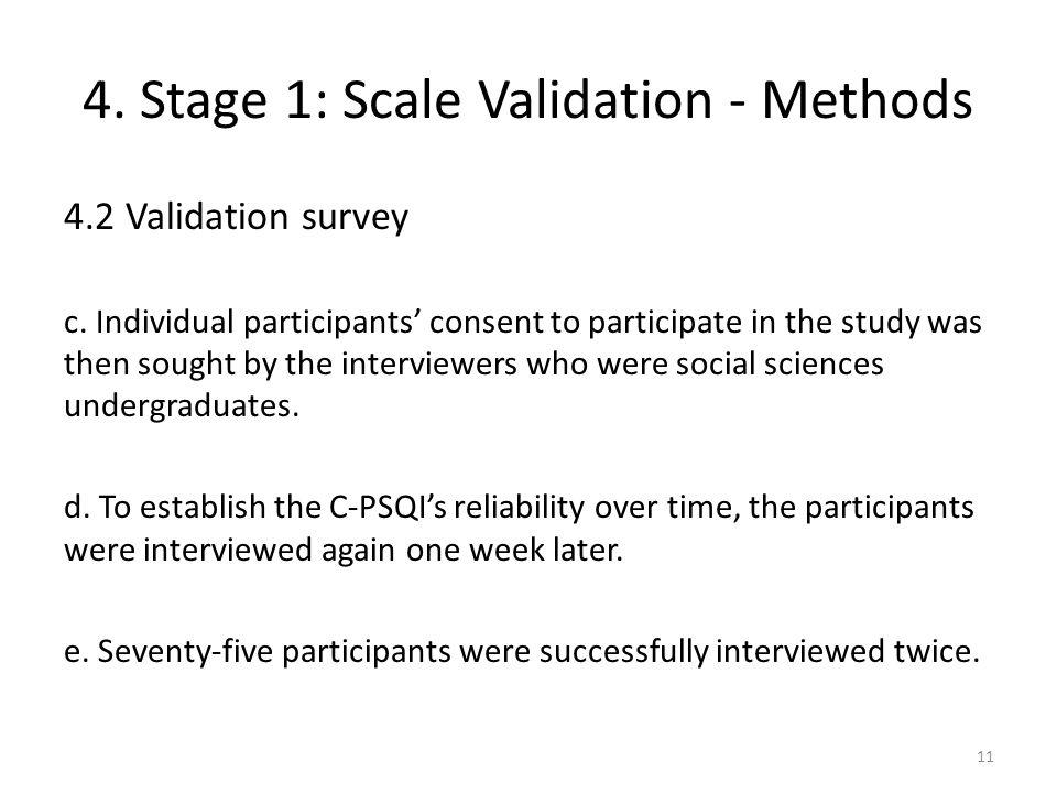 4. Stage 1: Scale Validation - Methods 4.2 Validation survey c.
