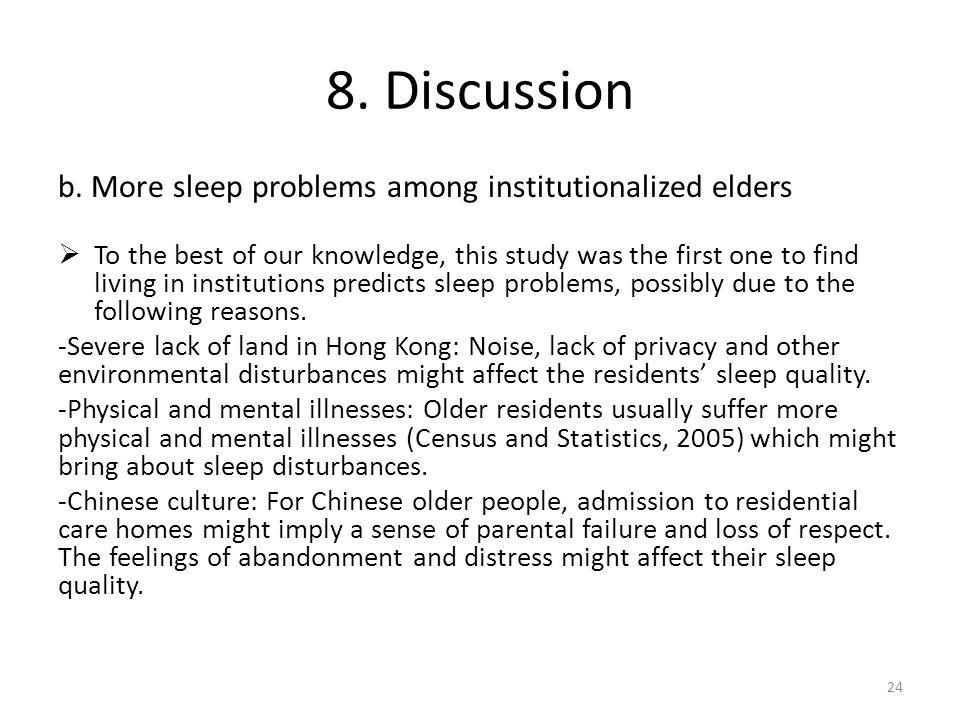 8. Discussion b.