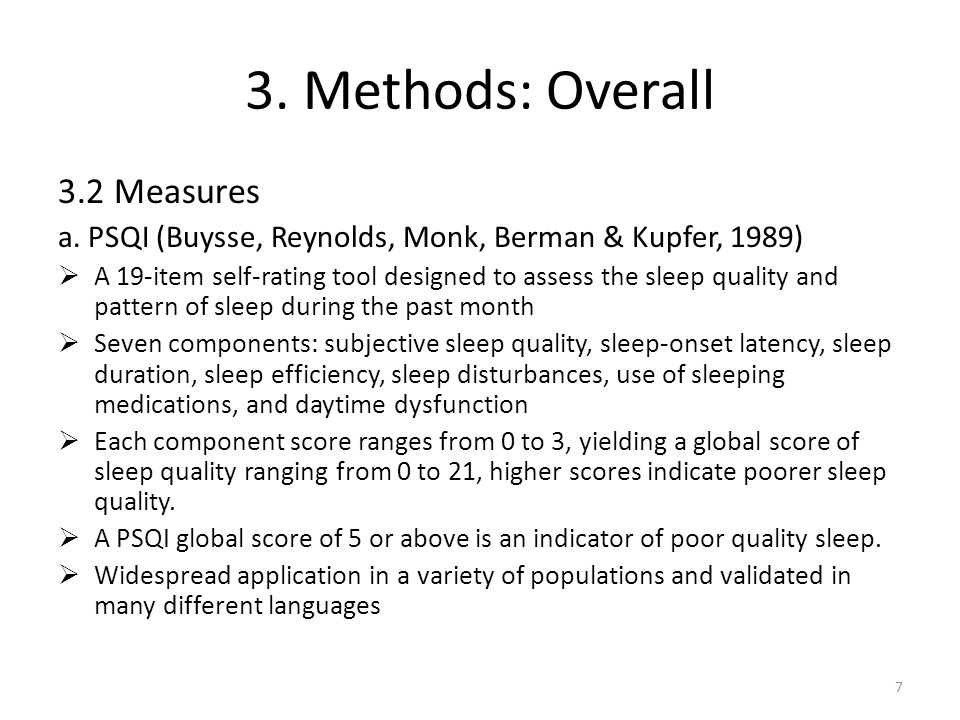 3.Methods: Overall 3.2 Measures b.