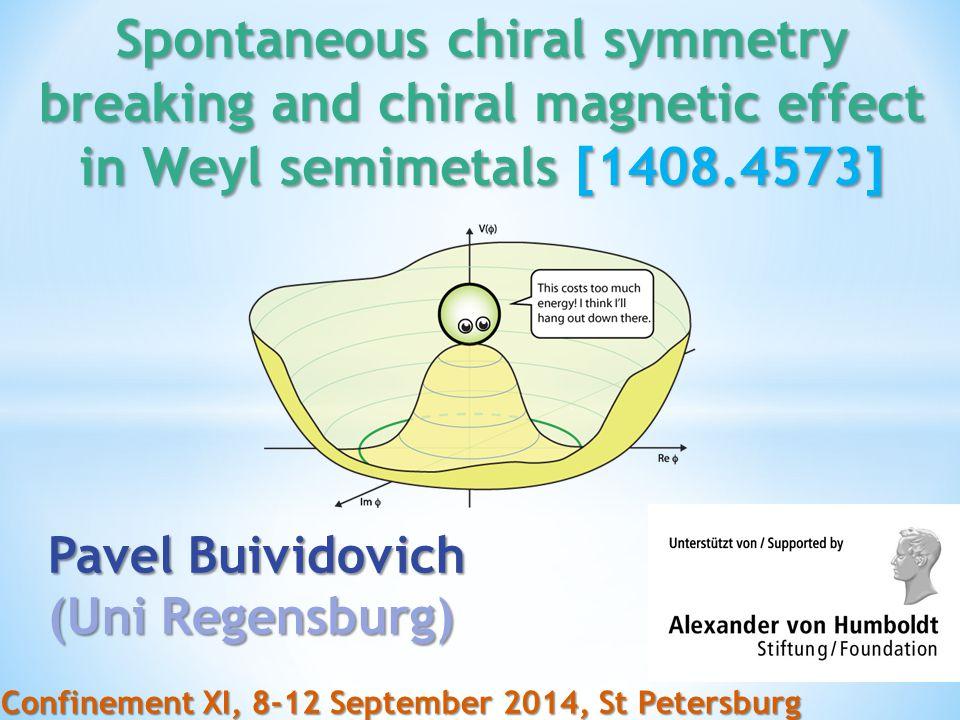 No mass term for Weyl fermions Weyl points survive ChSB!!! [Pyrochlore iridate]