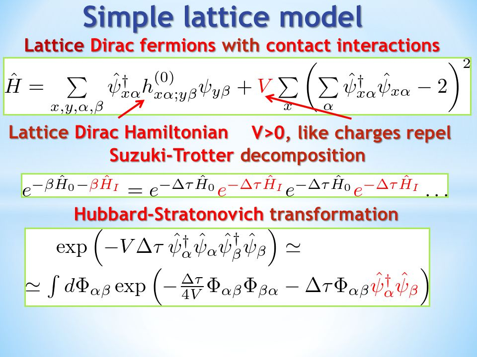 """Two scenarios for strongly coupled Dirac fermions with chiral imbalance: Condmat-like models with finite Dirac sea Condmat-like models with finite Dirac sea ChSB enhances chirality imbalance ChSB enhances chirality imbalance CME current carried by """"vector mesons CME current carried by """"vector mesons Enhancement of CME due to interactions Enhancement of CME due to interactions QFT-like models with regulated Dirac sea QFT-like models with regulated Dirac sea ChSB suppresses chirality imbalance ChSB suppresses chirality imbalance Role of regulators not physically clear (so far) Role of regulators not physically clear (so far) New interesting instabilities possible New interesting instabilities possible Two scenarios for strongly coupled Dirac fermions with chiral imbalance: Condmat-like models with finite Dirac sea Condmat-like models with finite Dirac sea ChSB enhances chirality imbalance ChSB enhances chirality imbalance CME current carried by """"vector mesons CME current carried by """"vector mesons Enhancement of CME due to interactions Enhancement of CME due to interactions QFT-like models with regulated Dirac sea QFT-like models with regulated Dirac sea ChSB suppresses chirality imbalance ChSB suppresses chirality imbalance Role of regulators not physically clear (so far) Role of regulators not physically clear (so far) New interesting instabilities possible New interesting instabilities possible"""