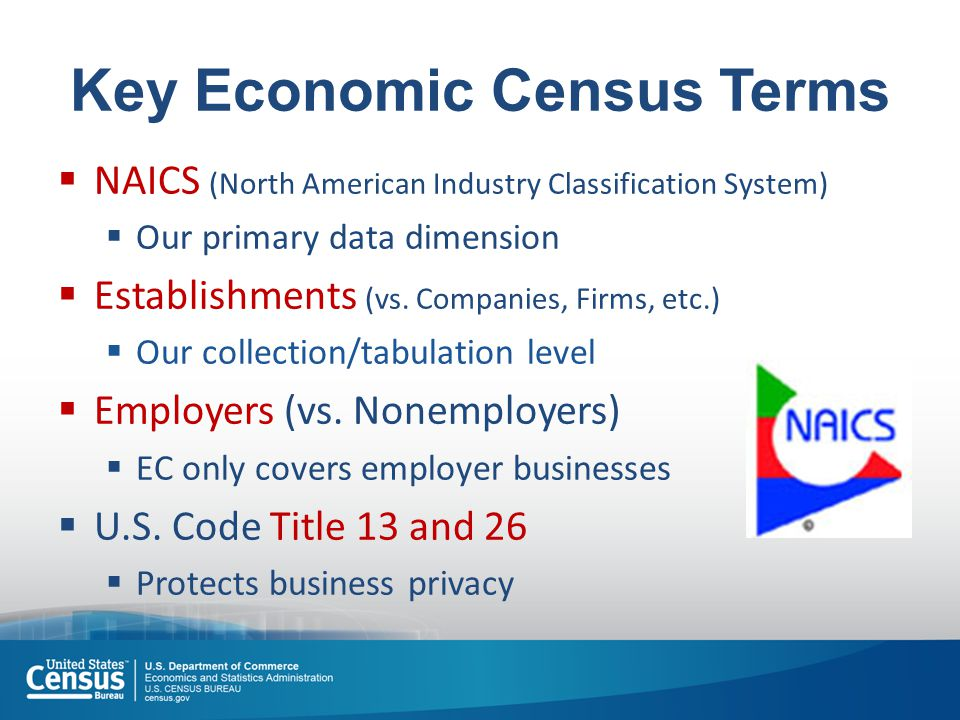 15 Industry Statistics Portal Industry Statistics Portal (ISP) (www.census.gov/econ/isp/) All data sources for an industry Links to AFF Industry definitions & comparability back to 1997
