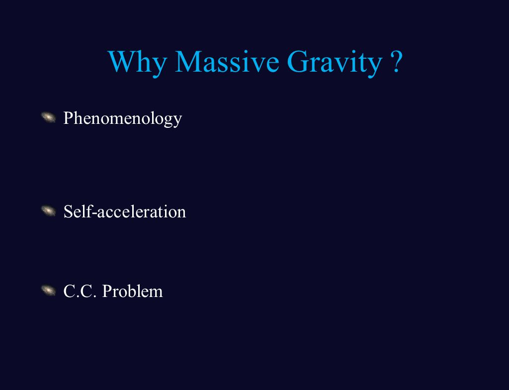Why Massive Gravity Phenomenology Self-acceleration C.C. Problem