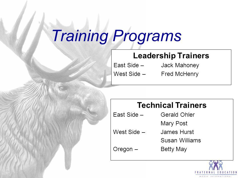 Lodge Leadership training curriculum