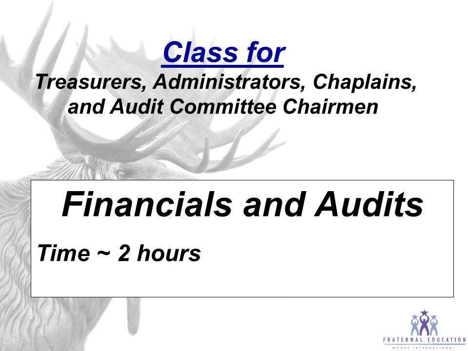 Class for For Trustees How To:  Run An Inventory,  Verify Goods Received,  and Annual Building Inventory  Time ~ 2 hours