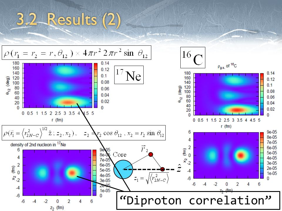 Diproton correlation