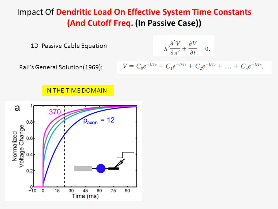 Impact Of Dendritic Load On Effective System Time Constants (And Cutoff Freq.