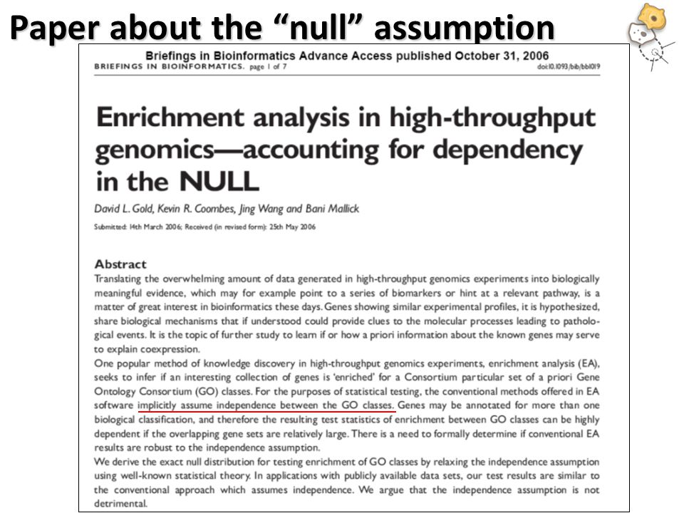 Paper about the null assumption