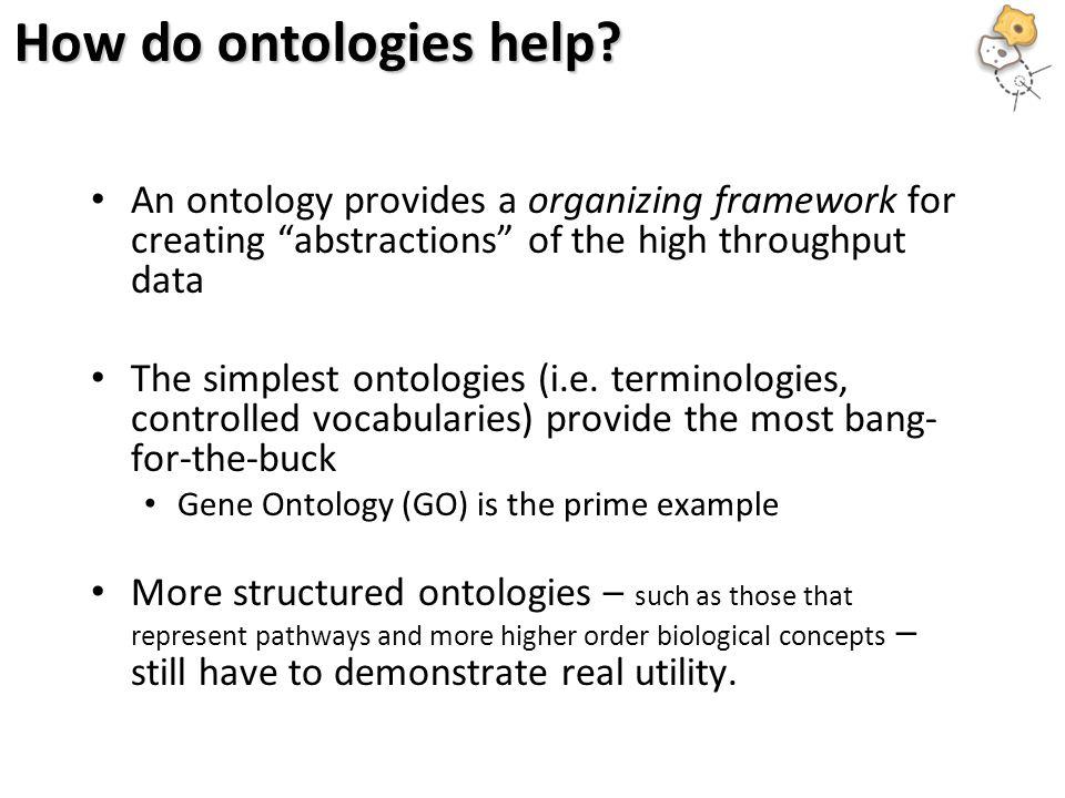 How do ontologies help.