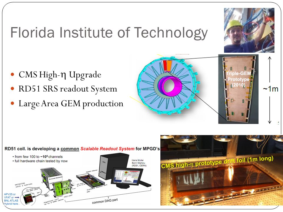 Florida Institute of Technology CMS High-  Upgrade RD51 SRS readout System Large Area GEM production